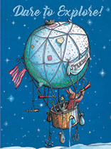 Encouragement - Bunny on a Balloon
