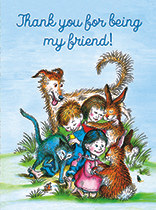 Friendship - Children and Animals Hugging
