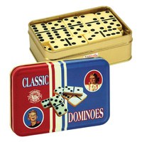 Dominos in a Classic Toy Tin