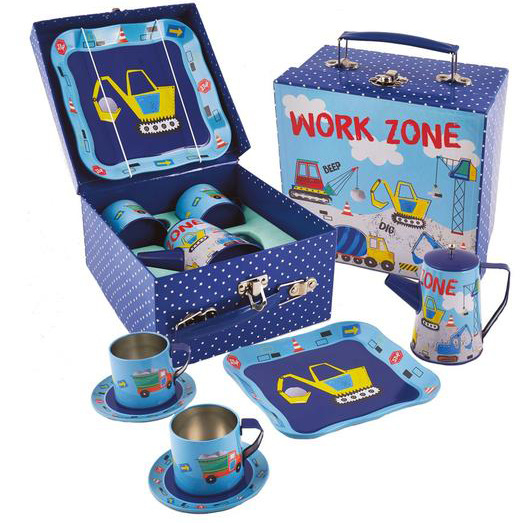 Construction Tin Coffee Set
