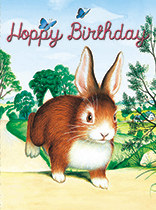 Birthday - Hopping Bunny Wishes