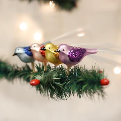 Glitter Bird - clip ornament