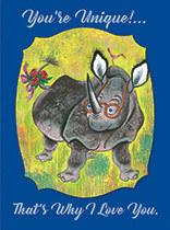 Anniversary - Rhino in Glasses