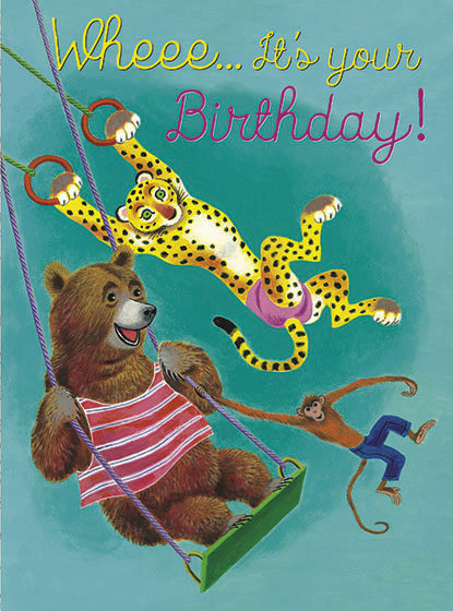 Birthday - Swinging Animals