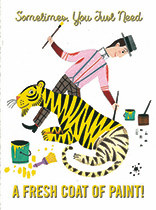 Thinking of You - Tiger Being Painted Yellow
