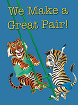 Anniversary - Tiger and Zebra on a Swing